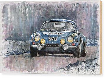 Alpine A 110 Wood Print by Yuriy  Shevchuk