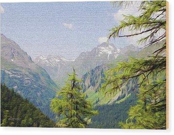 Alpine Altitude Wood Print by Jeffrey Kolker