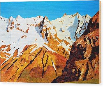 Alpine Landscape Wood Print by Henryk Gorecki