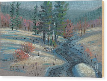 Alpine Stream Wood Print by Donald Maier
