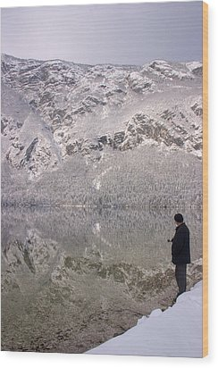 Wood Print featuring the photograph Alpine Winter Reflections by Ian Middleton