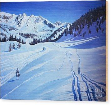 Alps Wood Print