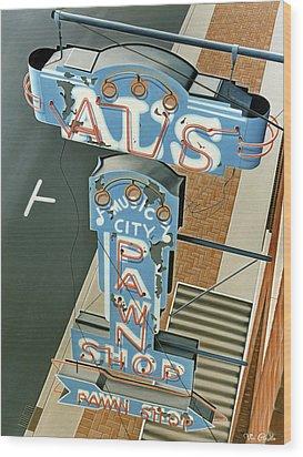 Al's  Wood Print by Van Cordle