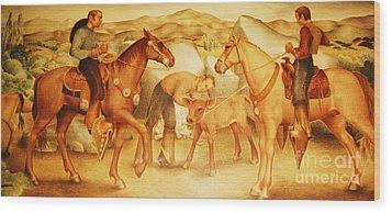 Alta California Rancheros Wood Print by Pg Reproductions