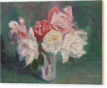 Altadena Roses Wood Print by Athena  Mantle