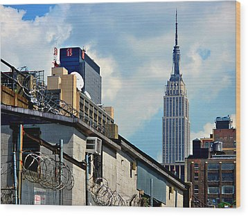 Alternative View Of Empire State Building Wood Print