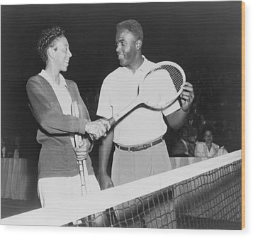 Althea Gibson 1927-2003 And Jackie Wood Print by Everett