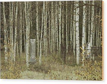 Alvarado Cemetery 42 Wood Print by Marie Leslie