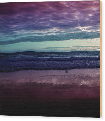 Always A Horizon Wood Print by Bonnie Bruno