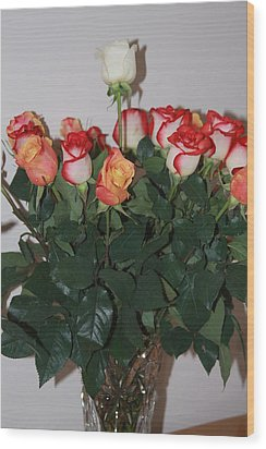 Wood Print featuring the photograph Always A Rose by Vadim Levin