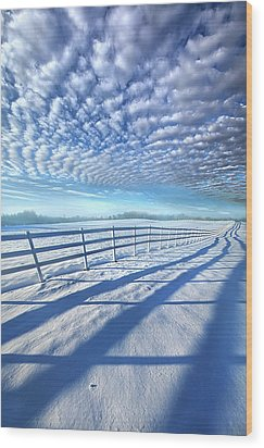 Wood Print featuring the photograph Always Whiter On The Other Side Of The Fence by Phil Koch