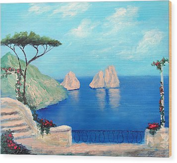 Amalfi  Beauty Wood Print