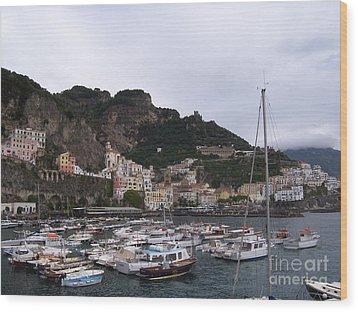 Wood Print featuring the photograph Amalfi Coast by Judy Kirouac