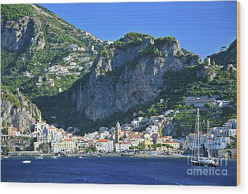 Amalfi Cove Wood Print