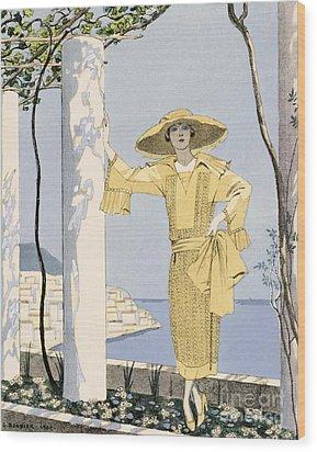 Amalfi Wood Print by Georges Barbier