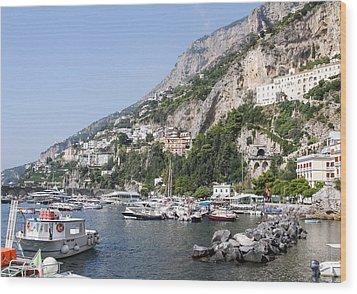 Amalfi Coast Italy Wood Print