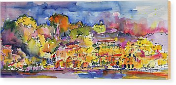 Amalfi Italy Coastline Travel Wood Print