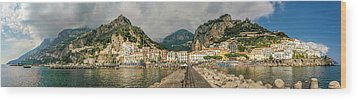 Wood Print featuring the photograph Amalfi by Steven Sparks