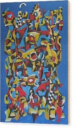 Amalgamation Wood Print by Chris Boone