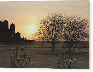 Amarillo Sunset Wood Print