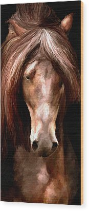 Wood Print featuring the painting Amazing Horse by James Shepherd
