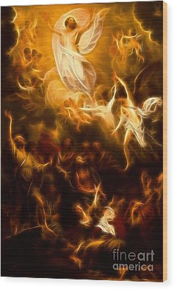 Amazing Jesus Resurrection Wood Print by Pamela Johnson