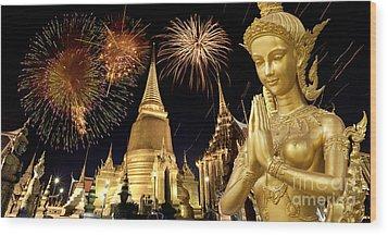 Amazing Thailand Wood Print by Anek Suwannaphoom