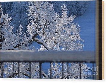 Wood Print featuring the photograph Amazing - Winterwonderland In Switzerland by Susanne Van Hulst