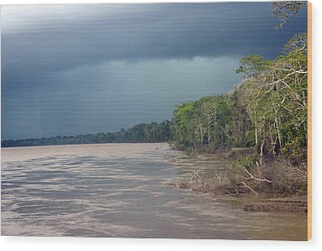 Amazonian Storm Study Number One Wood Print