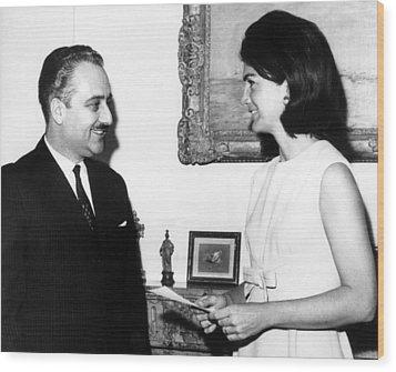 Ambassador Talat Al-ghoussein Of Kuwait Wood Print by Everett
