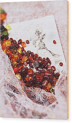 Wood Print featuring the photograph Amber #8925 by Andrey  Godyaykin