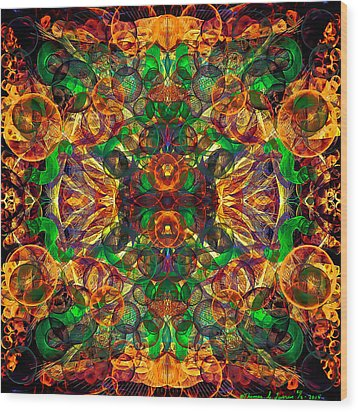 Amber Burst. Wood Print