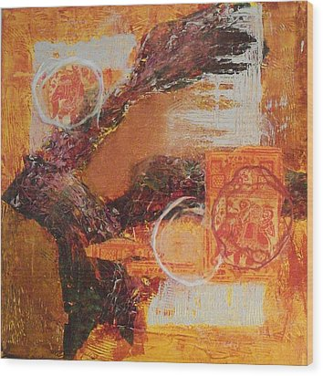 Amber Parade Wood Print by Sonal Raje