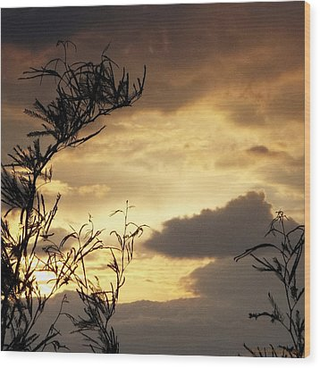 Amber Sky Wood Print by Glenn McCarthy Art and Photography