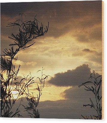 Amber Sky Wood Print