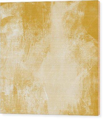Amber Waves Wood Print by Linda Woods