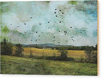 Amber Waves Of Grain Wood Print by Jan Amiss Photography
