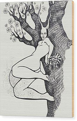 Amber Wood Print by Yelena Tylkina