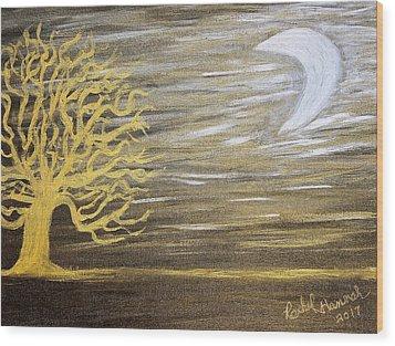 Ambient Night Wood Print