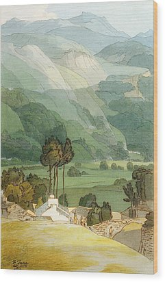 Ambleside Wood Print by Francis Towne