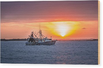 Amelia River Sunset 25 Wood Print