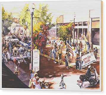 America At Its Best Wood Print by Mike Hill