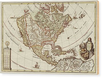 America Borealis 1699 Wood Print