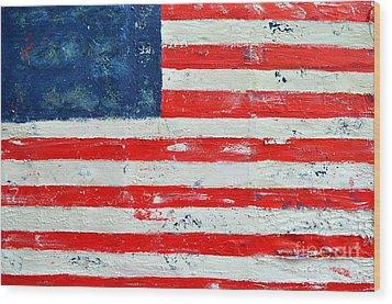 America Wood Print by Nicky Dou