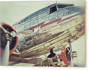 American Airlines Wood Print by AK Photography