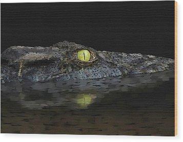 American Aligator Wood Print
