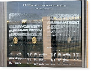 Wood Print featuring the photograph American Battle Monuments Commission by Travel Pics