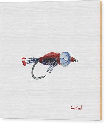 American Bead Head Wood Print by Sean Seal
