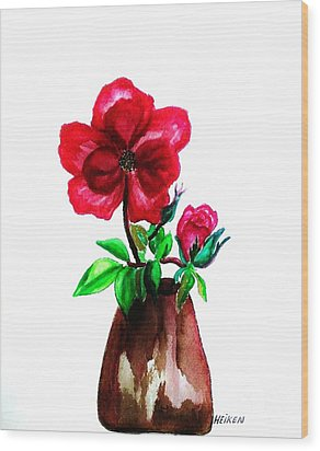 American Beauty Rose Wood Print