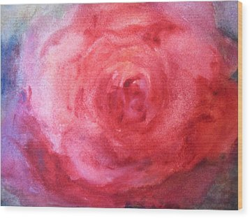 American Beauty Wood Print by Sandra Strohschein